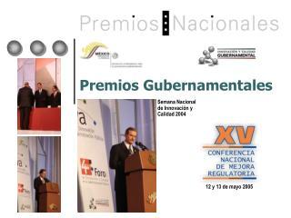Premios Gubernamentales