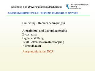 Apotheke des Universitätsklinikums Leipzig