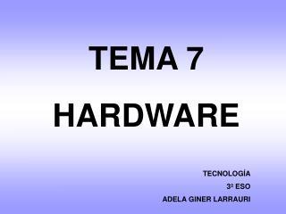 TEMA 7 HARDWARE