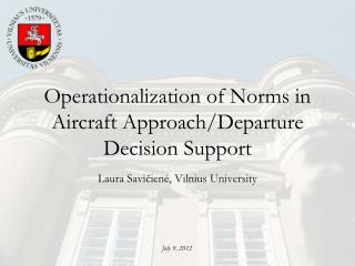 Operationalization of Norms in Aircraft Approach/Departure Decision Support
