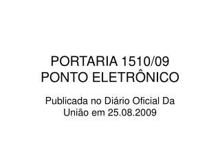 PORTARIA 1510
