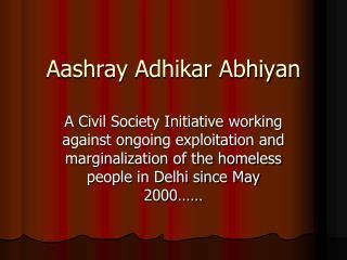 Aashray Adhikar Abhiyan