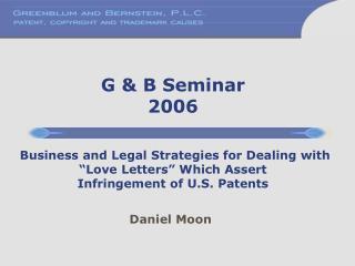 G & B Seminar 2006