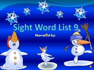 Sight Word List 9