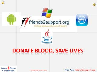 Donate blood, save lives