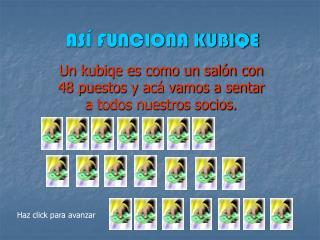ASÍ FUNCIONA KUBIQE