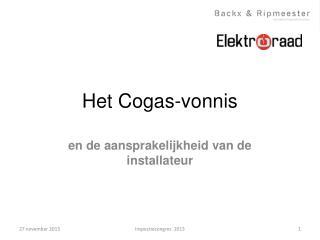 Het  Cogas-vonnis