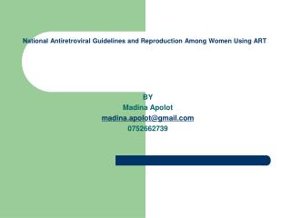 National Antiretroviral Guidelines and Reproduction Among Women Using ART