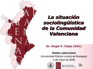 La situación sociolingüística  de la Comunidad Valenciana