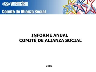 INFORME ANUAL  COMIT  DE ALIANZA SOCIAL