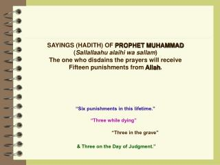 & Three on the Day of Judgment.""