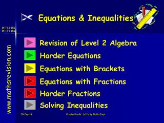Equations & Inequalities