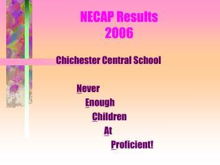 NECAP Results 2006