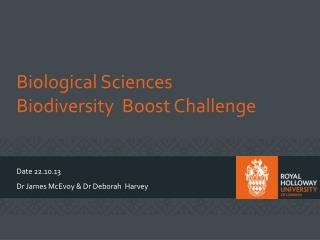 Biological Sciences  Biodiversity  Boost Challenge