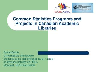 Common Statistics Programs and Projects in Canadian Academic Libraries