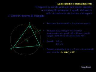 Tracciamo il diametro BD = 2r ed uniamo A con D.