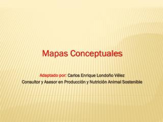 Mapas Conceptuales Adaptado por:  Carlos Enrique Londoño Vélez