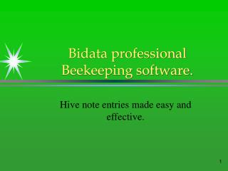 Bidata professional Beekeeping software.
