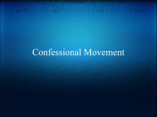 Confessional Movement