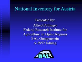National Inventory for Austria