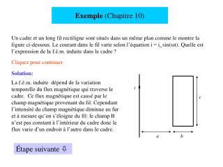 Exemple  (Chapitre 10)