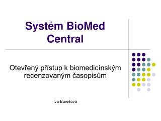 Systém BioMed Central