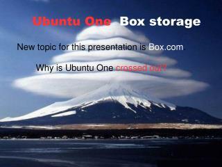 Ubuntu One Box storage