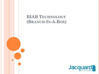 BIAB Technology  (Branch-In-A-Box)