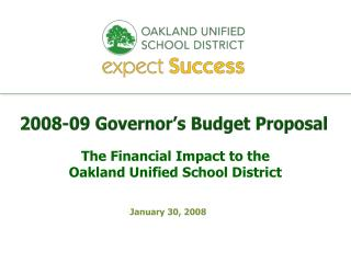 2008-09 Governor's Budget Proposal