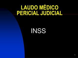 LAUDO MÉDICO PERICIAL JUDICIAL