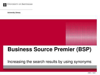Business Source Premier (BSP)