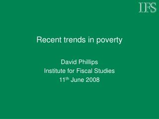 Recent trends in poverty