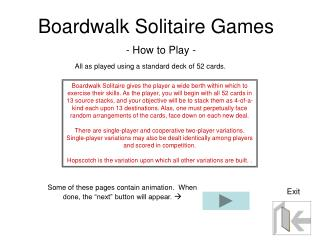 Boardwalk Solitaire Games