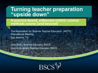 "Turning t eacher  p reparation ""upside  d own"""