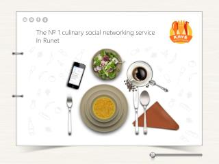The  № 1  culinary social networking service In  Runet