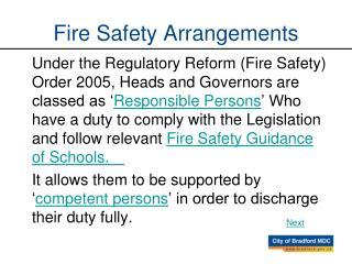 Fire Safety Arrangements