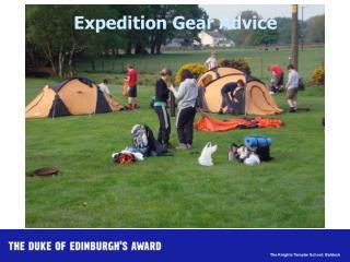 Expedition Gear Advice