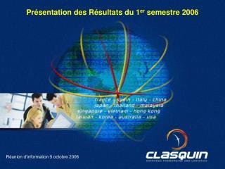 Réunion d'information 5 octobre 2006