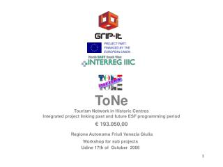 ToNe Tourism Network in Historic Centres