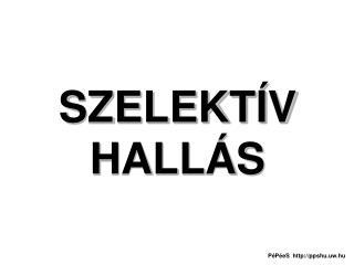 SZELEKTÍV HALLÁS