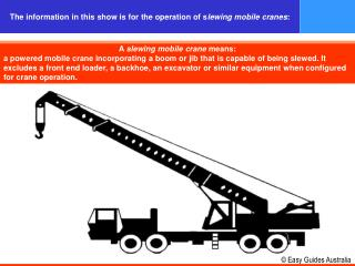 A  slewing mobile crane  means: