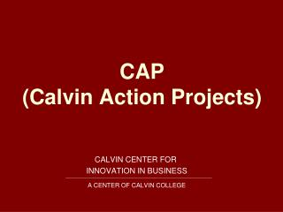 CAP (Calvin Action Projects)