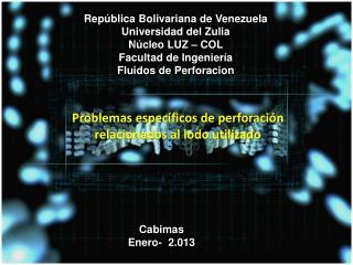 República  B olivariana de Venezuela U niversidad del Zulia N úcleo LUZ – COL