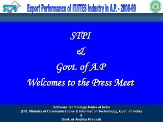 STPI   Govt. of A.P Welcomes to the Press Meet