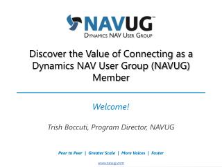Discover the Value of Connecting as a Dynamics NAV User Group (NAVUG) Member