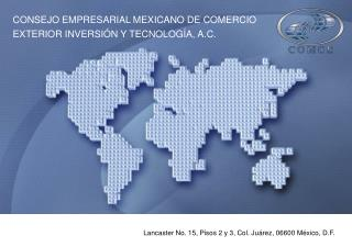 Lancaster No. 15, Pisos 2 y 3, Col. Juárez, 06600 México, D.F.