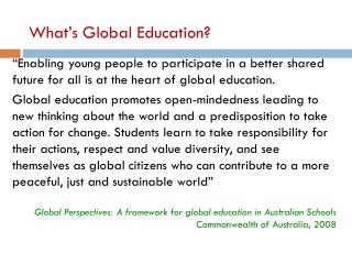 What's Global Education?