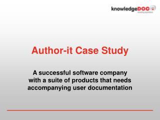 Author-it Case Study