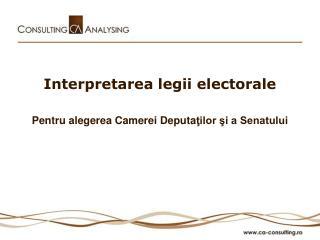 Interpretarea legii electorale