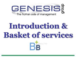 Introduction & Basket of services